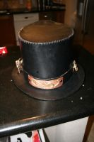 Steampunk Leather Top Hat by Paul-Nasca