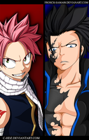 Fairy Tail 427-Natsu and Gray [Collab] by C-Hdz
