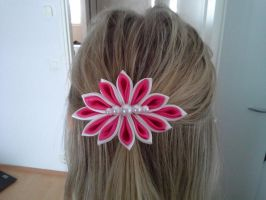 Fabric Flower-hairclip by Camo93