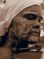 Old Gypsy Woman Close Up by Fullmoon-rose