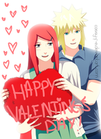 Minato and Kushina by Cassy-F-E