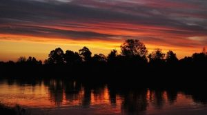 Sunset Over The Hawkesbury by EvigLiv