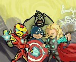 avengers family photo by Debarsy