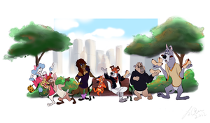 Disney Anthros: Oliver and Company by itsbetsy by EHH123