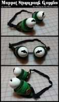 Steampunk Muppet Goggles by CaelynTek