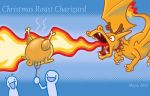 Christmas Roast Charizard by FallenAngelSkyla