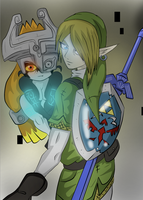 Midna and Link by xxxwingxxx