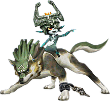 Wolf Link and Midna by Skylight1989