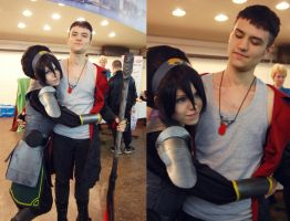 Toph Bei Fong and Dante Sparda by TophWei