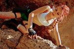 Lara Croft - looking down by TanyaCroft