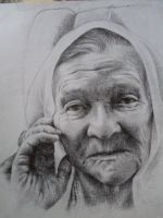 portrait of an old woman by mirzart-cobalt