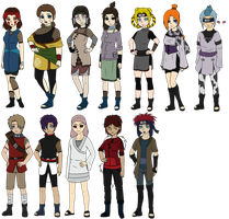 Naruto Fan Character Chart by xCalee