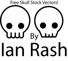 Skull Vector Stock by redcodefinal