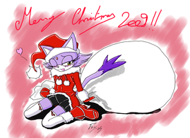 Merry Christmas from Blaze by Fox-Gungrave