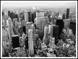 black and white nyc skyline by emochick91