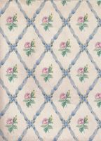 ribbon rose blue pattern by jinifur
