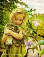 children with cat by Ka-Kind