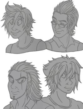 Drawing Style: Don Bluth FF15 by MadeInHeavenFF15