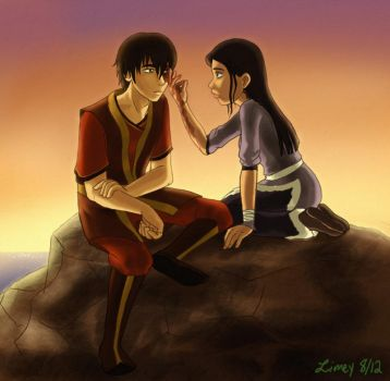 commish: zuko and oc by limey404