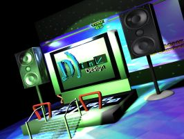 3D DDR Dance Stage by davilesdesigns