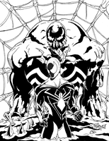 Spidey VS Venom inks by BIG-D-ARTiZ