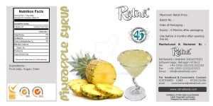 pineapple juice Packging Label by MadreMedia