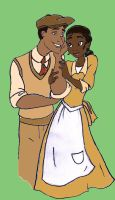 Tiana and Naveen by theghostlyartist