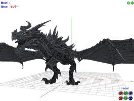 MMD WIP Alduin by 0-0-Alice-0-0