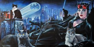LIGHTS OF GOTHAM 'CATWOMAN WITH FRIENDS' by FredIanParis