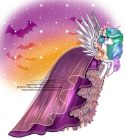 Princess Celestia - Special Halloween Dress by selinmarsou