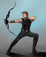 Clint Barton ...practice? by umbrellaguns