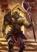Orc champion by Emkun