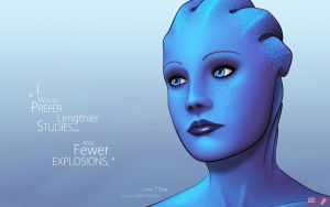 ME Wallpaper - Liara SE by pineappletree