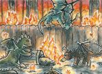 Dragons Aceo by Vhalesa