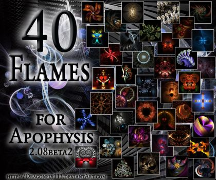 40 Flames Pack for Apo 2.08 by Brigitte-Fredensborg