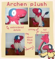Pokemon Archen plush toy! by SilkenCat