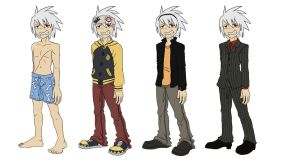 Soul Eater Evans Outfits by nooby-banana