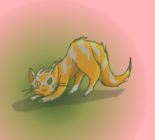 Silverpool- The fluffy cat. by Little-Volii