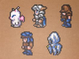 FFVI Bead Characters 06 by zaghrenaut