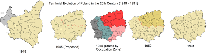 Polish Territorial Evolution in the 20th Century by JJohnson1701