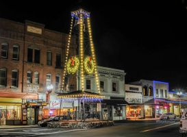 Small Town lights by kayaksailor