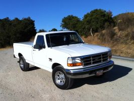After 1997 Ford F250 Powerstroke 7.3 frontal view by Partywave