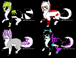 Dogs adoptables open by FlakPaw
