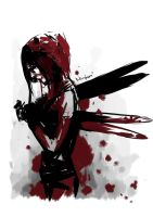 Daily Spitpaint : Bloody Fairy by oshirockingham