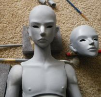 Artist SD BJD Work in progress by ab-rowin