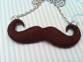 Moustache Necklace by KatGore