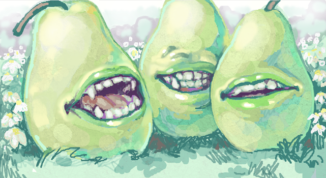 Pack of Biting Pears by Snapdragoon