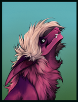 purple fluffball by WolvenRach