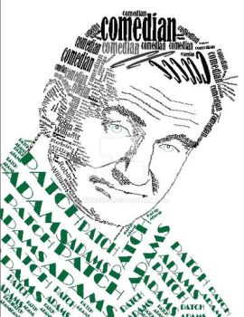 Robin Williams Typography Portrait by ashzer101