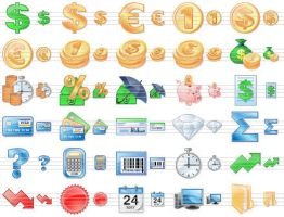 Business Toolbar Icons by Ikonod
